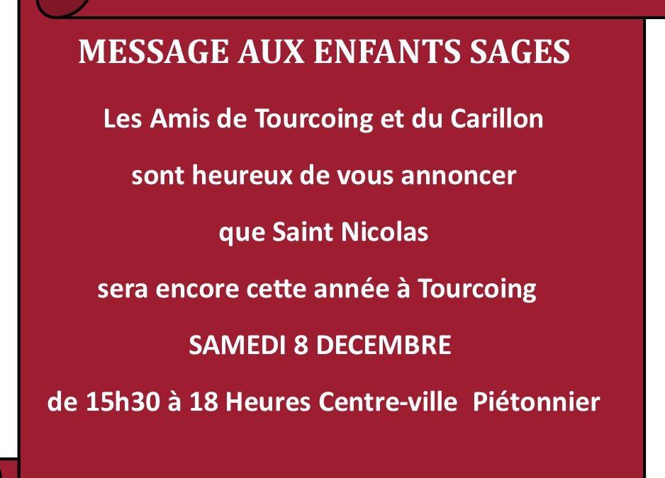 Samedi 7 décembre 2019 : Saint Nicolas